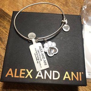 ALEX & ANI Paw Print bracelet